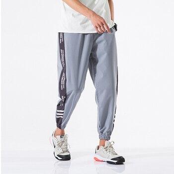 2020 New Hip Hop Joggers Cargo Pants Men Harem Pants Multi-Pocket Ribbons Man Sweatpants Streetwear Casual Mens Pants S-6XL - XXXL, 2001light grey