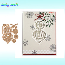 Christmas elements Lantern Metal Cutting Dies for DIY Scrapbooking Embossing Paper Card Album Decoration Crafts Cut 2019