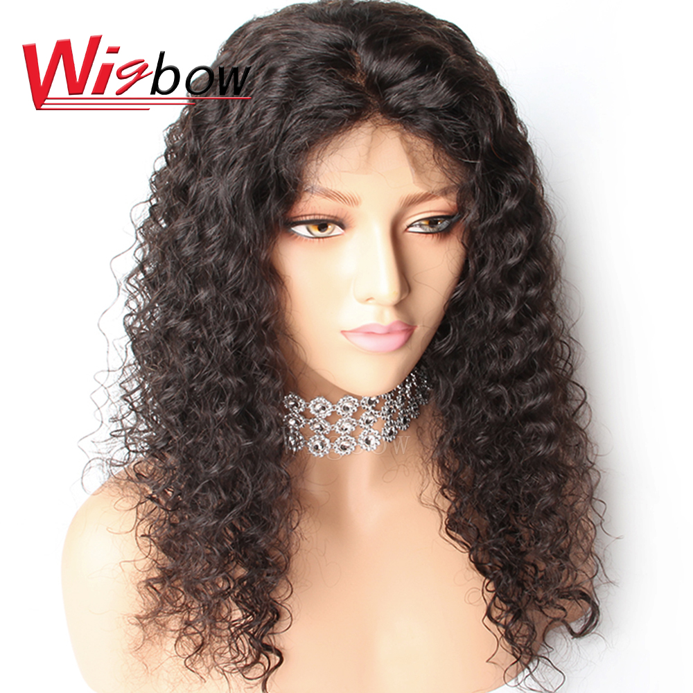 Wigbow OneCut Hair Bob Deep Curly 13x4 Lace Front Human Hair Wigs For Black Women Deep Wave Frontal Wigs With Baby Hair