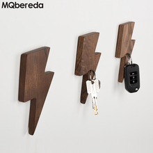 купить Wall Smart Creative Key Hook Wall Hanging Strong Magnet Key Suction Porch Solid Wood Refrigerator Key Storage Wall Decoration дешево