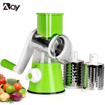 Vegetable Slicer Manual Kitchen Accessories Vegetable Chopper 3 in 1 Round Grater Cutter Potato Spiralizer Home Gadget Tool Item 2