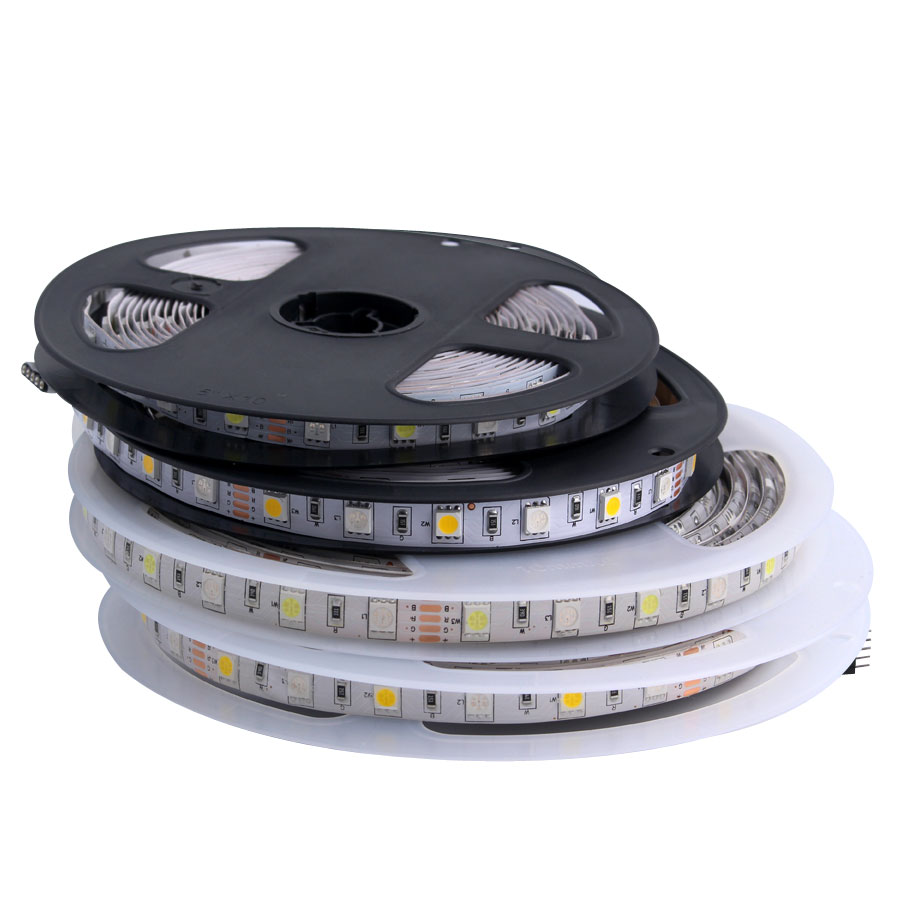 12 V Waterproof 5050 SMD LED Strip Light 5M 12V LEDStrip Tape Lamp RGB RGBW RGBWW Yellow Pink Ice Blue Diode Ribbon Fleible