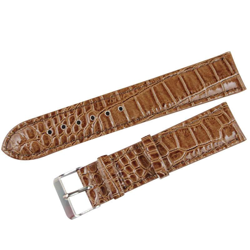 20mm נשים עור מפוצל רצועת שעון צמיד חגורת רצועת שעון להקת שעון ססגוניות להקות אבזרים