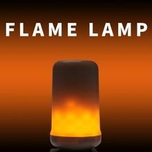 E27 LED Flame Effect Fire Light Bulbs E14 220V Imitation Lamp 5W E26 Flickering Emulation Decor 3W 110V