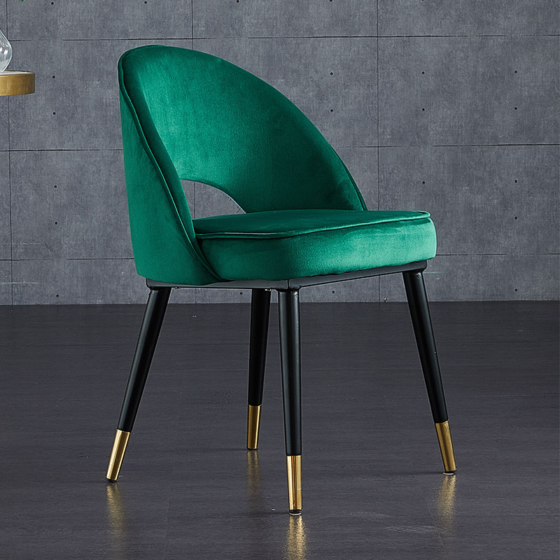 Nordic Luxury Dining Chair стулья для кухни Modern Minimalist Home Dining Chair Backrest Stool Makeup Nail Chair Pink Green