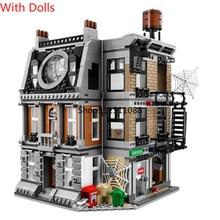 Super heros série o sanctum sanctorum showdown blocos de construção com figuras criador especialista arquitetura modelo tijolos diy brinquedos
