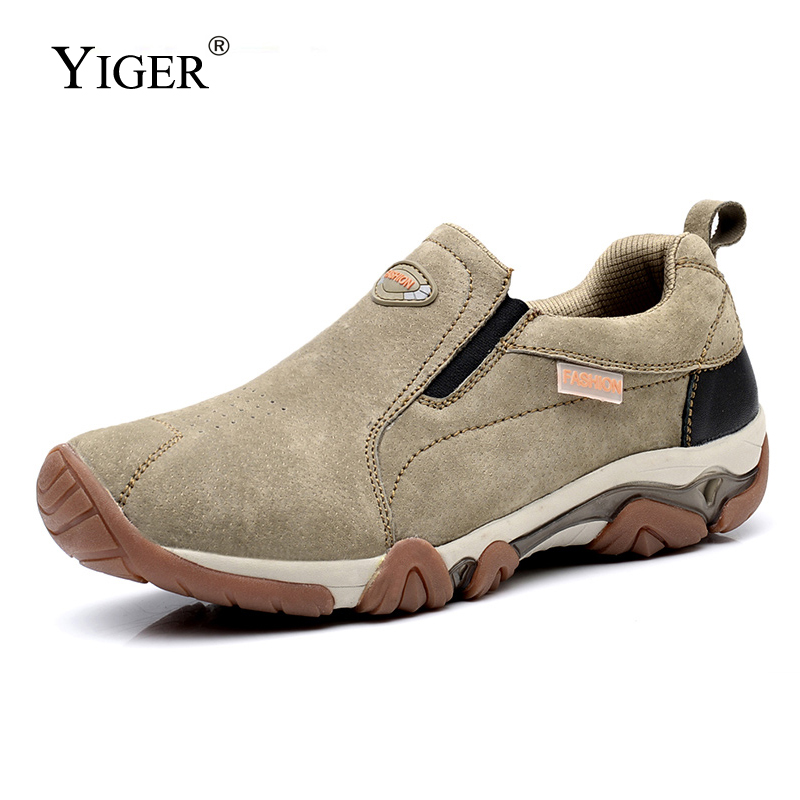YIGER New Men Hiking Causal Shoes Beef Tendon Bottom Wear-resistant Men's Outdoor Shoes Sports Shoes  Men's Shoes Sneakers  0386