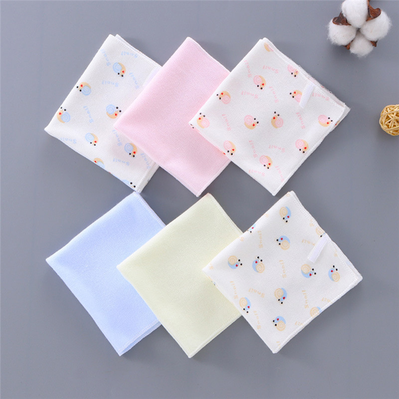 6PCS/pack Cotton Newborn Baby Towels Soft Infant Bibs Nursing Towel Children Boys Girls Washcloth Handkerchief For Kids 22x22CM