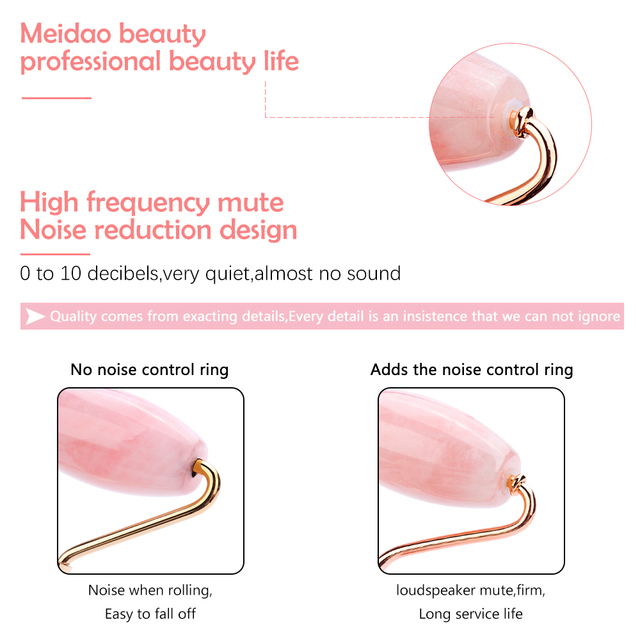 Quartz Jade Roller Heart Guasha Scraping Board Slimming Face Lift Massager Facial Massage Facial Jade Stone Skin Beauty Care Set 3