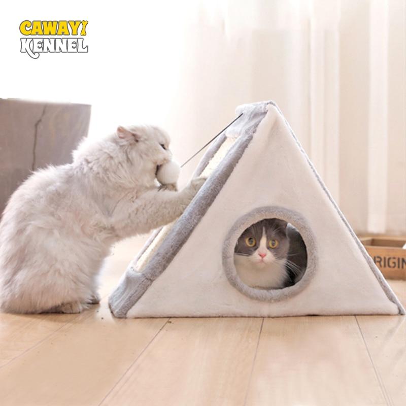 Cawayi canil gatos casa raspador placa gato quadro escalada moagem garra brinquedos para gatos casa gato gato com rascador gato grattoir chat
