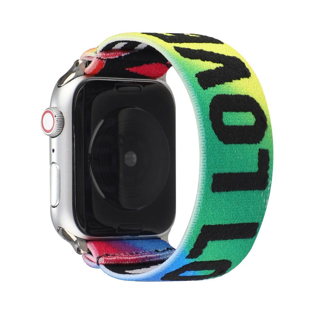 Liebe Sie Handgelenk Gürtel Sport Band für Apple Uhr Serie 6 SE 5 4 3 2 1 Flexible Stoff iwatch handgelenk Band Nylon Handgelenk Armband.