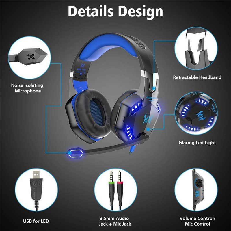 lowest price Led 3 5mm Earphone Gaming Headset With Microphone Mic Gamer PC PS4 Game Stereo Gaming Headphone With Microphone For Computer