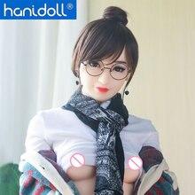Hanidoll 150cm Silicone Sex Dolls Love Doll Metal Skeleton TPE doll Small breast  Full Sized Realistic Vagina Masturbator