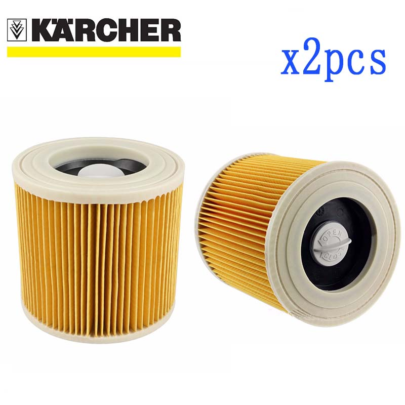 2 Pcs Air Dust Filters For Karcher Vacuum Cleaners Parts Cartridge HEPA Filter WD2250 WD3.200 MV2 MV3 WD3 Karcher Filter Parts