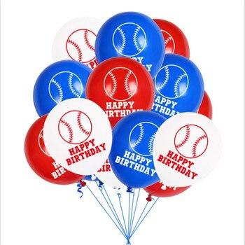Juego de globos de fiesta de béisbol de 12 pulgadas, globo de látex, deportes, tema, Baby Shower, decoración de fiesta de cumpleaños, globos