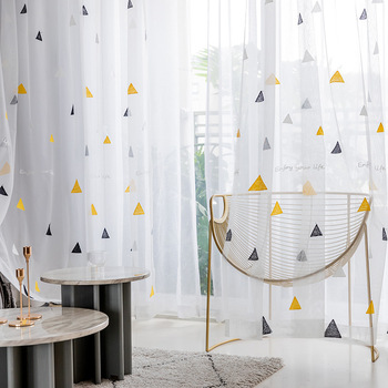 Nordic Style Triangle Tulle Curtains for Children 1