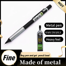 Very Fine Metal Mechanical Pencil 0.3 0.5 0.7 0.9mm HB or 2B refill Each Pen comes with 30 pencil leads
