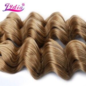 Image 4 - Lidia extensiones de cabello sintético para mujer, paquete de extensiones de cabello sintético de 18 a 24 pulgadas, sin trama, a granel, 2 unidades por paquete, color rubio esmerilado