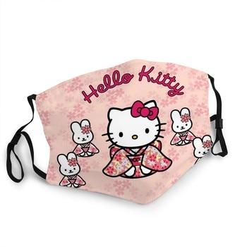 Hello Kitty Girl's Birthday Gift Key Chain Mask With Pm2.5 Filter Dustproof  Kawai Masque Hello Kitty Water Wash Cloth Mascaras недорого