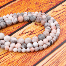 Pink Zebra Natural Stone Bead Round Loose Spaced Beads 15 Inch Strand 4/6/8/10/12mm For Jewelry Making DIY Bracelet