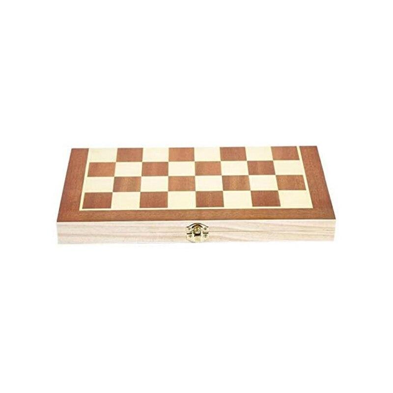 Jogo de tabuleiro de madeira de xadrez dobrável portátil ao ar livre