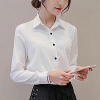 Spring and Summer 2019 New Korean Dressed Blouse, Large Size Bottom Shirt, Long Sleeve Chiffon Shirt