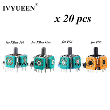 IVYUEEN 20 PCS 3D Analog Thumb Sticks Sensor Module Potentiometer for PlayStation 5 4 PS5 PS4 Controller for XBox One S X 360