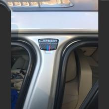 Carbon Fiber Emblem Car Stickers B Column Sticker For BMW E46 E39 E60 E90 F30 F34 F10 1 2 3 5 7 series X1 X3 X5 X6 Universal