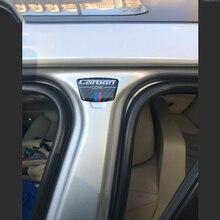 Carbon Fiber Emblem Car Stickers B Column Sticker For BMW E46 E39 E60 E90 F30 F34 F10 1 2 3 5 7 series X1 X3 X5 X6 Universal car steering wheel 3d stainless steel car stickers modified for bmw e90 f30 f10 f20 x1 x3 x5 x6 x5 new 3 series 320gt5 series