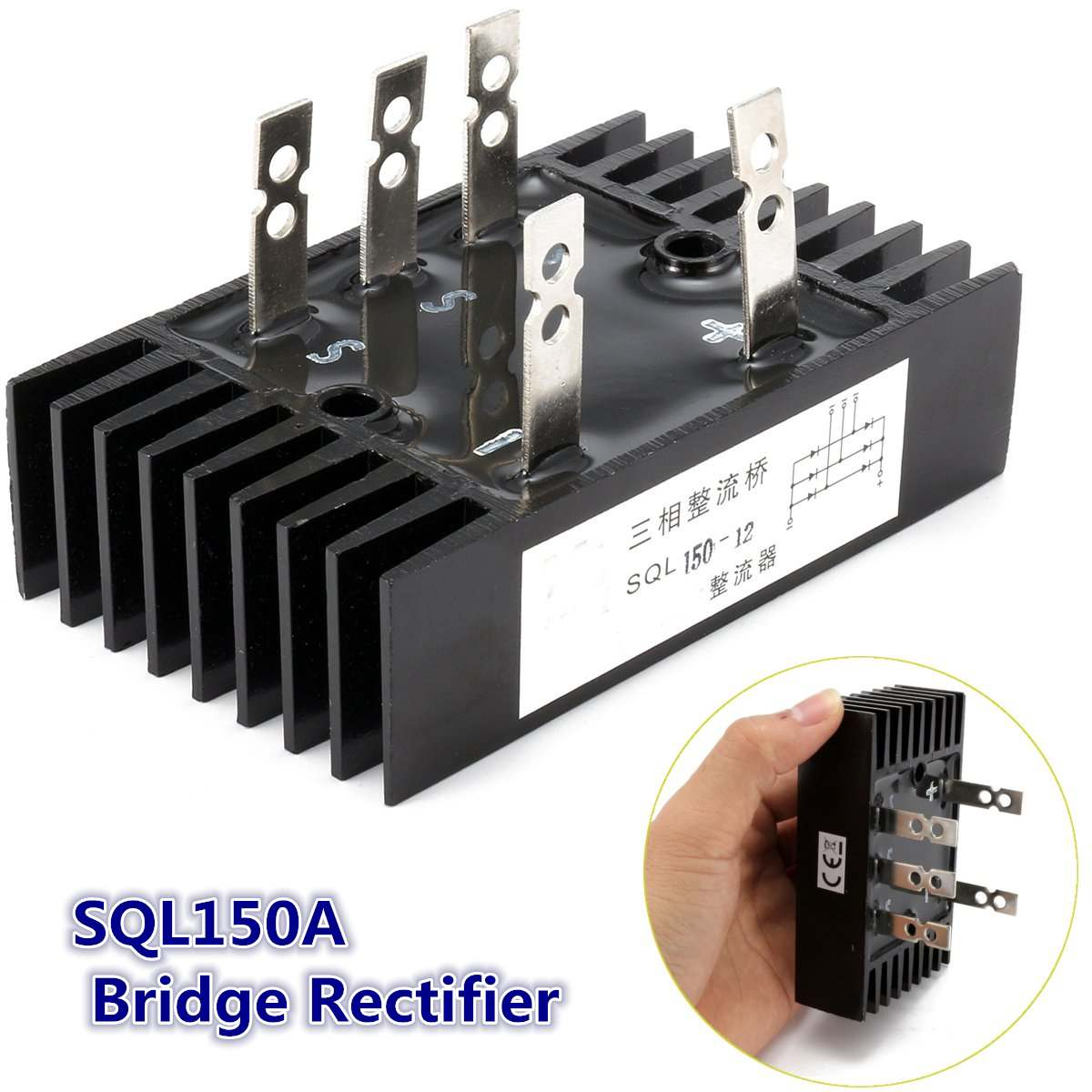 1PC 3 Phase Diode Bridge Rectifier 150A 1000V-1600V SQL150A 200degree Aluminum Module Electronic Components & Supplies