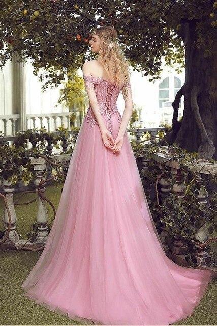 Элегантное платье трапеция с длинным бисером розовые кружевные