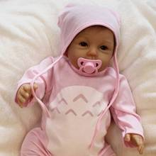 22Inch Lovely Soft Silicone Newborn Baby Doll Short Hair Reb