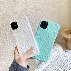 Image 2 - Iphone8case 용 소프트 폰 케이스 iphone 11Pro X 용 귀여운 실리콘 케이스 XR XS Max 7 6 iphone 11 케이스 용 커버 Pure color fold
