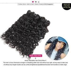 Image 3 - Ishow שיער הודי שיער טבעי מים גל חבילות לקנות 3 או 4pcs שיער טבעי חבילות לקבל נחמד מתנות טבעי צבע שיער weave חבילות