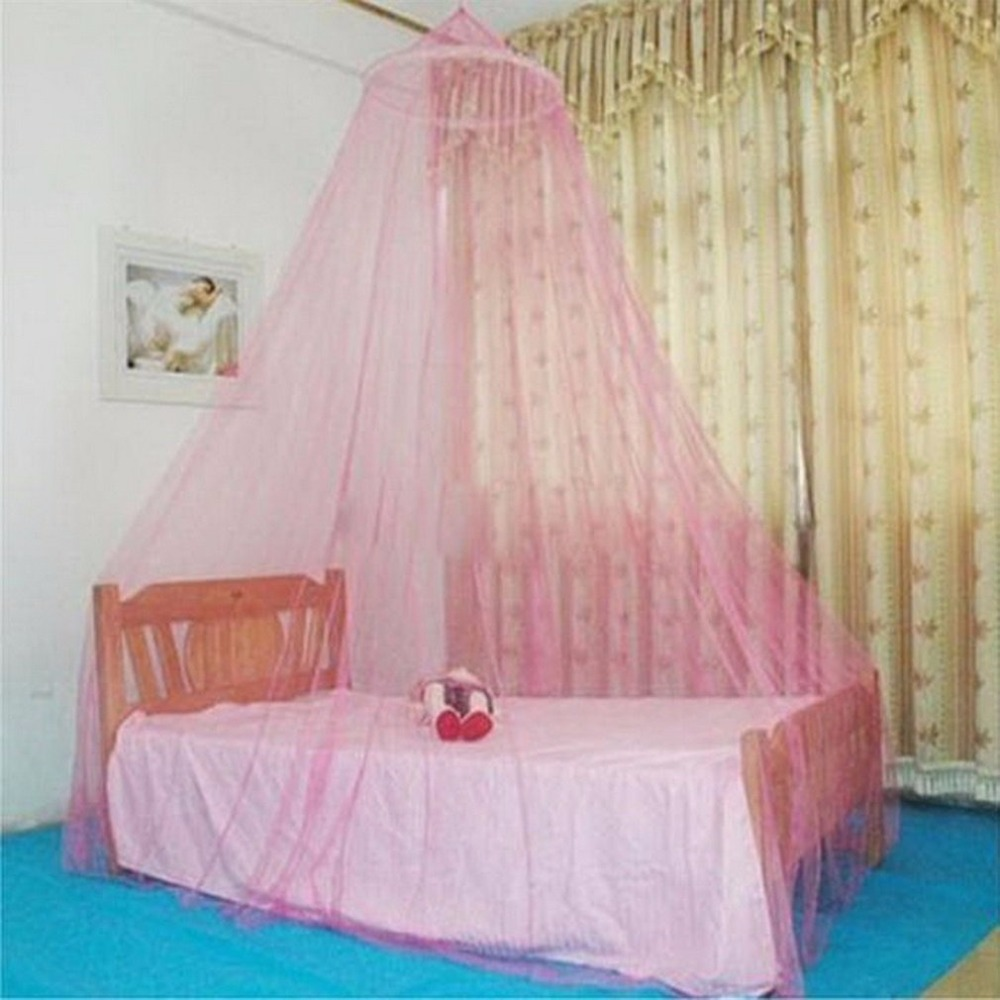 8 Colors Summer Round Lace Insect Bed Canopy Netting Curtain Polyester Mesh Fabric Home Textile Elegant Hung Dome Mosquito Net