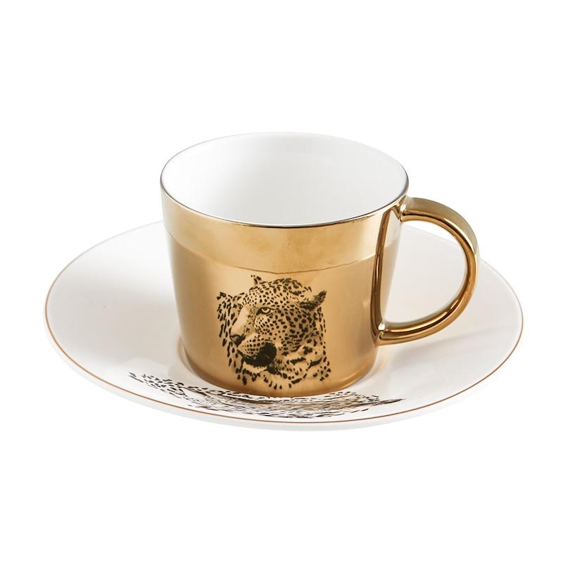 Creative כוס השתקפות נורדי קריקטורה פנדה anamorphic כוס טייגר את מראה אוסף ספל
