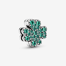 2020 Spring New 925 Sterling Silver Beads Pave Setting Four-Leaf Clip Charms fit Original Pandora Bracelets Women DIY Jewelry 2020 spring new series 100% 925 sterling silver beads boy teenager charms fit original pandora bracelets women diy jewelry