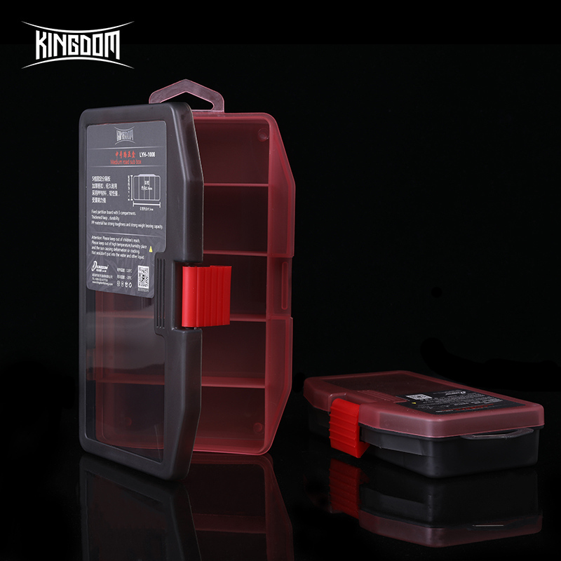 Kingdom Fishing Tackle Box Fish Lures Hooks Baits Compartments Storage Case Box Fishing Tackle Box For Pesca Fishing Accessories