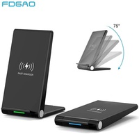 FDGAO 15W Qi Quick Wireless Charger Stand For iPhone 11 Pro X XS Max XR 8 Samsung S10 S9 Note 9 10 Wireless Charge Dock Station Wireless Chargers     -