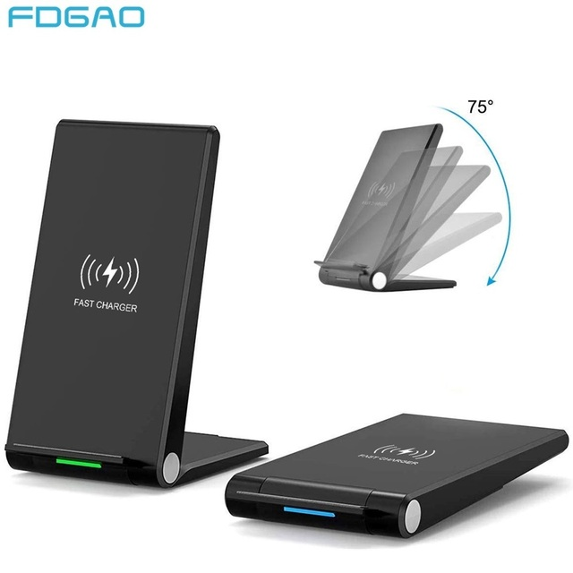 FDGAO 15W Qi Quick Wireless Charger Stand For iPhone 11 Pro X XS Max XR 8 Samsung S10 S9 Note 9 10 Wireless Charge Dock Station