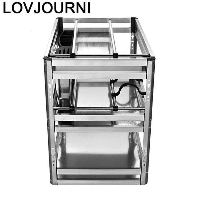 Accessories Organizer Mutfak Malzemeleri Stainless Steel Cuisine Cocina Cozinha Kitchen Cabinet Cestas Para Organizar Basket