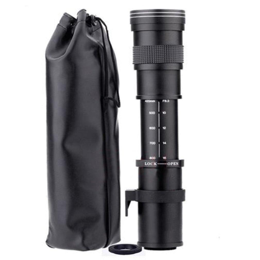 420-800mm F/8.3-16 Téléobjectif pour Appareil Photo REFLEX NUMÉRIQUE Nikon D5100 D5300 D5200 D7500 D3300 D3400 D3200 D90 D7200 D5600 D3X