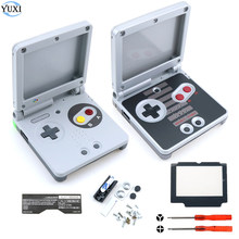 YuXi Full set Housing Shell Replacement Part for Nintendo for Gameboy Advance SP For GBA SP Case Cover with Screen lens tools