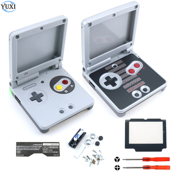 YuXi Full set Housing Shell Replacement Part for Nintendo for Gameboy Advance SP For GBA SP Case Cover with Screen lens tools yuxi lcd screen protector protective film for gameboy advance color pocker for gba gba sp gbc gb gbp for gbm console