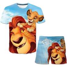 3-14Y Kids Baby Boy Clothes lion 2021 Summer animal Print Sets 2Pcs Short Sleeve T-Shirt+Shorts Child Boy cartoon Wear Children cheap unisex 4-6y 7-12y 12+y Fashion CN(Origin) O-Neck None Tshirts and Pants Polyester Spandex Regular Fits true to size take your normal size