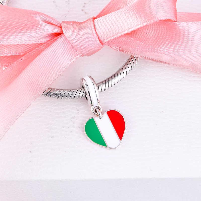 Mariposa Rosa enlace italiano pulsera con dijes Charms