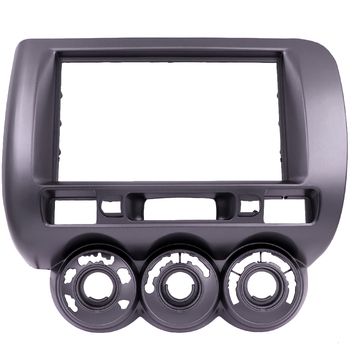 New Audio Fascia for HONDA Jazz LHD or RHD Double Din Radio CD GPS DVD Stereo CD Panel Dash Mount Installation Trim Kit Frame image