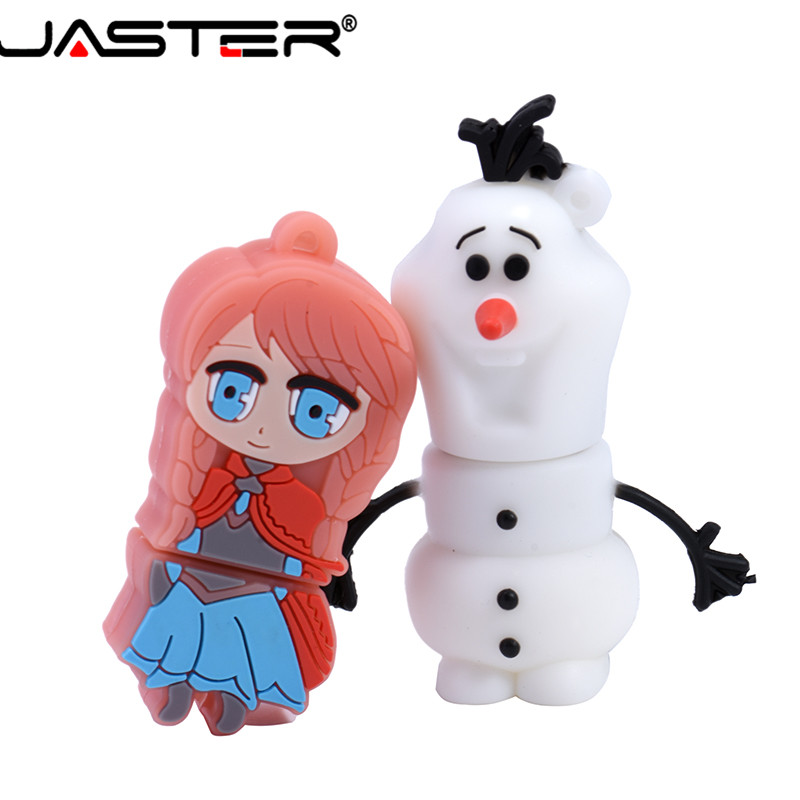 JASTER  The New Cute Frozen USB Flash Drive USB 2.0 Pen Drive Minions Memory Stick Pendrive 4GB 8GB 16GB 32GB 64GB Gift