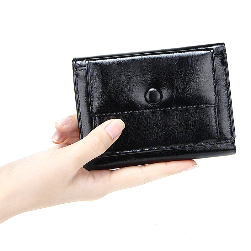 Patent Leather Short Women's Wallet 3 Folds Small Coin Purses For Women Money Lady Clutch Bags Luxury Fashion Female Card Holder