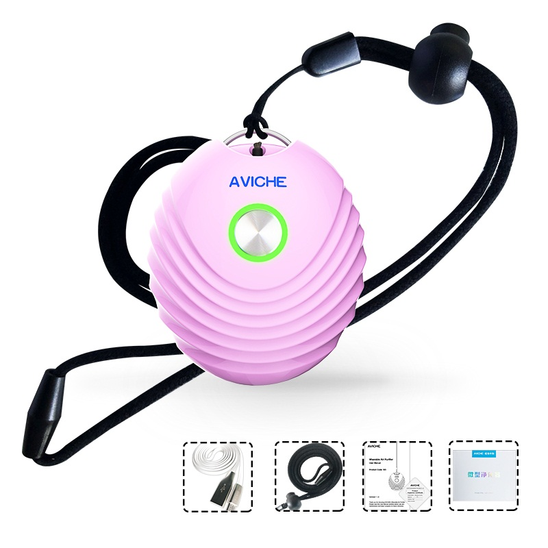 Personal Wearable Air Purifier Necklace Mini Portable Air Freshener Ionizer Negative Ion Generator Low Noise For Family